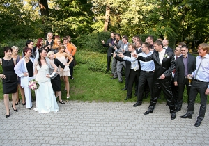 Gruppenfoto, Familienportrait, Trauzeugen