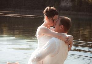 Crash-Hochzeit, Hohenleipisch See,
